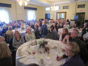 Members and guests gather for the AAUW Twin Rivers (NC) 9th annual Local Author's Luncheon on Saturday, January 30th, 2016.